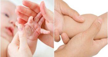 trẻ sơ sinh bị giật chân tay khi ngủ