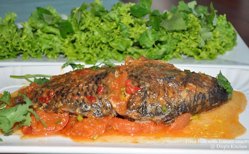 Món cá rô phi sốt cà chua thơm ngon rất tốt cho bà bầu